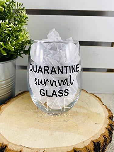 NAP Creations Quarantine Survival Wine Glass