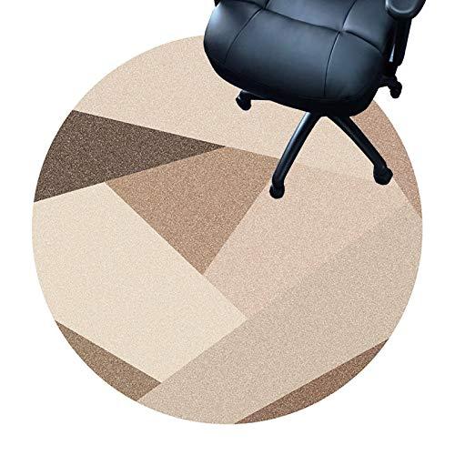 XIEBA Fußmatten Für Das Haus, rutschfeste, Strapazierfähige Stuhlmatten, 7 Mm Dicke Bodenschutzmatten Home Office, Runder Teppich Teppich(Size:120cm/47.2in,Color:EIN)