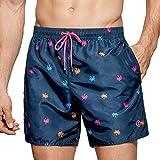Impetus Beachwear - Bañador para hombre, secado rápido, color marrón azul S