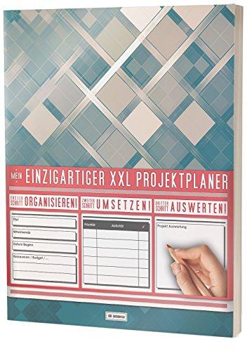 """Mein Projektplaner / Planen, Umsetzen, Auswerten! / 122 Seiten, Register, Kontakte uvm. / PR201 'Olivfarben"""" / DIN A4 Soft Cover"""