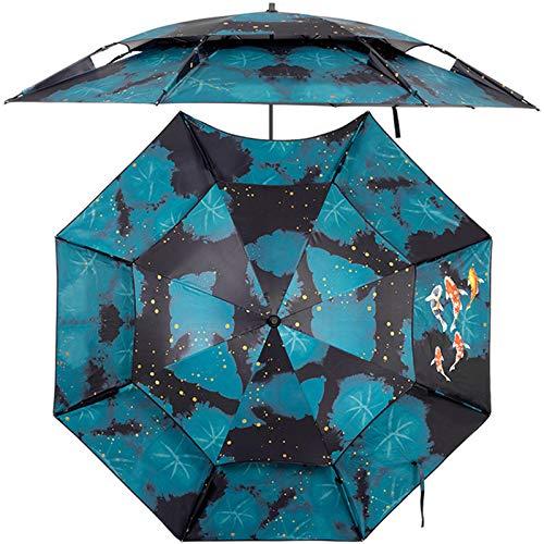 Cajolg Sombrilla Al Aire Libre Sombrilla De Playa Portátil Sombrilla Plegable Protección Solar Sombrilla De Pesca Gruesa para Espacios De Patio Al Aire Libre,B