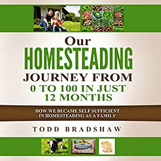 Our Homesteading Journey from 0 to 100 in Just 12 Months audiobook cover art
