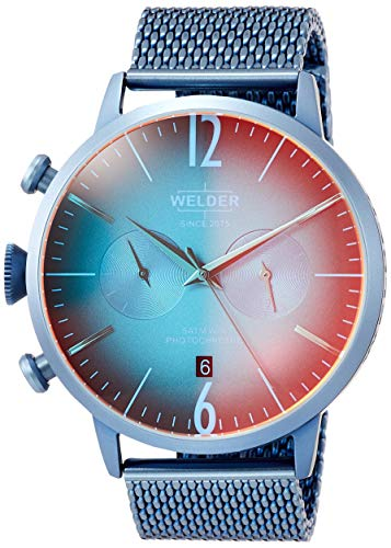 Welder Men's Breezy 45mm Blue Steel Bracelet & Case Quartz Watch WWRC416