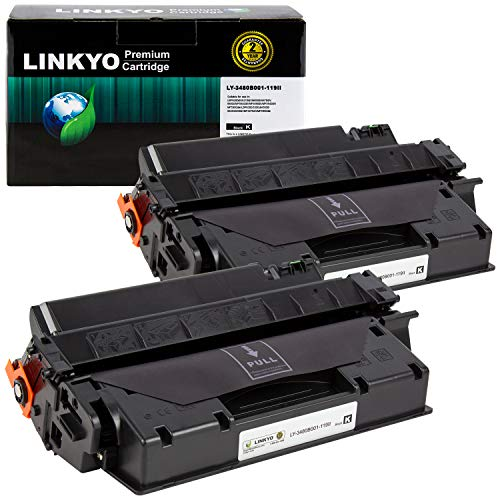 LINKYO Compatible Toner Cartridge Replacement for Canon 119 II 3480B001AA (Black, High Yield, 2-Pack)
