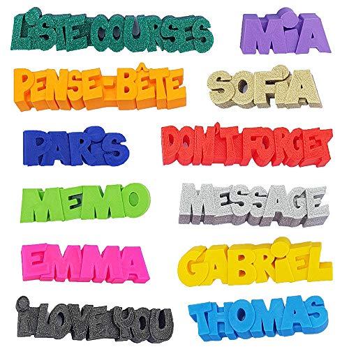 Imán 3D personalizado con nombre, mensaje o símbolo, imán para frigo, decoración para cocina, habitación o despacho, pegatina para regalo original
