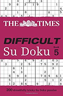The Times Difficult Su Doku Book 5: 200 Challenging Puzzles from the Times