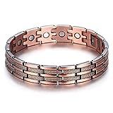 Pulseras magnéticas de cobre puro de la pulsera magnética para los hombres, 210Mm De Longueur, 13Mm en anchura