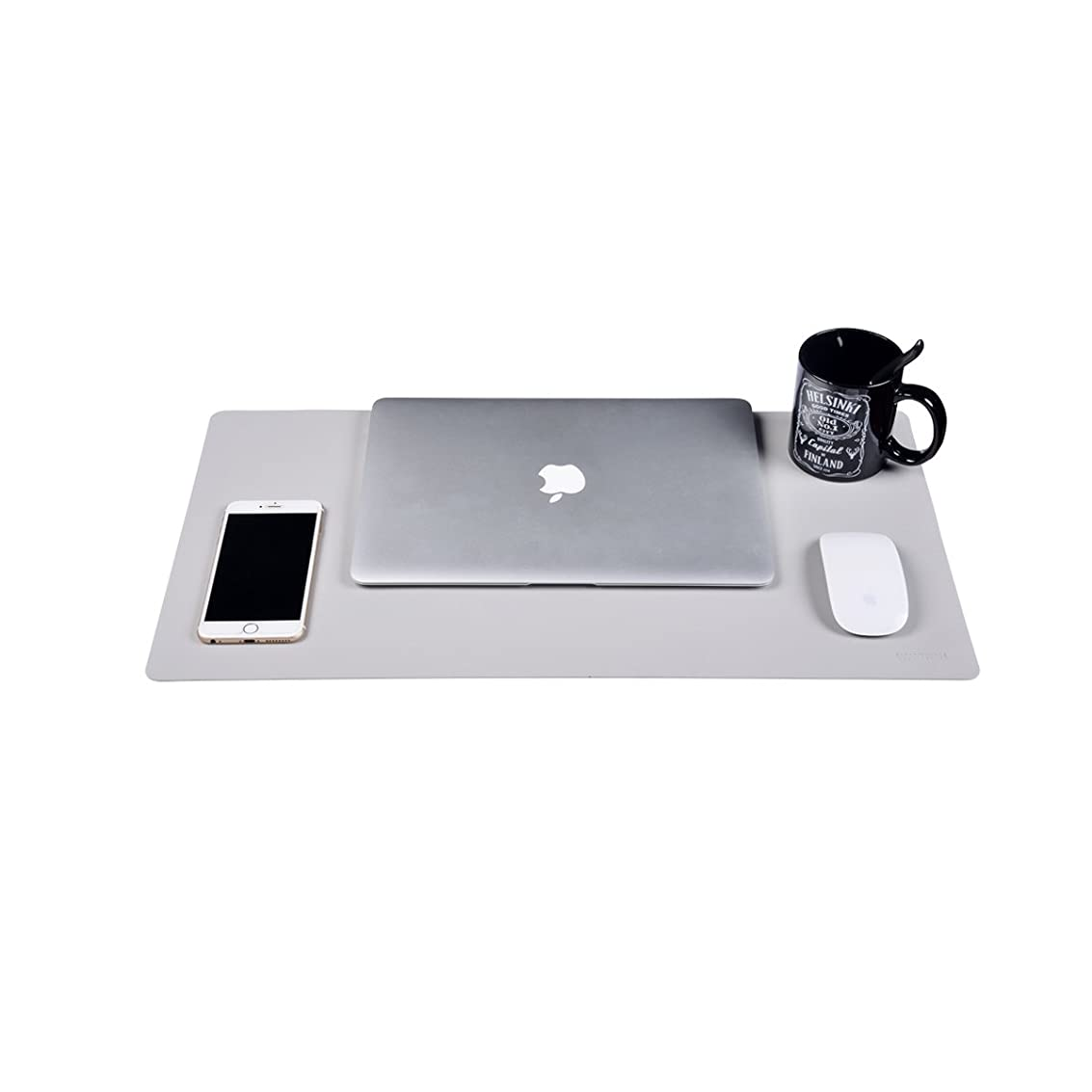 Leather Desk Pad Protecter,Dual Use Desk Writing Mat for Office/Home/School 23.5''12.5''WAYIFON (Grey) rnxpq6208529394