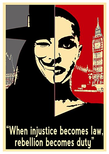 Instabuy Posters V for Vendetta Propaganda Quotes V - A3 (42x30 cm)