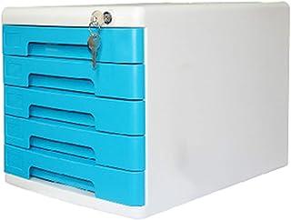 KANJJ-YU Classeur tiroir 5 couches de bureau Classeur multi-fonction de verrouillage du tiroir Petit meuble Armoire de ran...