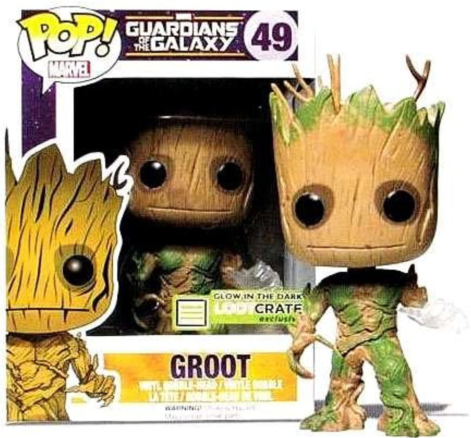 Funko POP  Vinyl Marvel Guardians of the Galaxy Groot Glow In The Dark Exclusive by FunKo