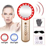 6 in 1 Burn Fat Machine for Belly Stomach Lose Fat Massager for Body Sliming with Blue and Red Light Beauty Device