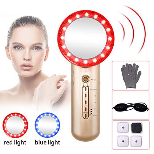 Fat Burning Machine 6 in 1 EMS Sliming Massager for Skin Tighten Weight Loose Machine with Blue and Red Light Ion Beauty Device