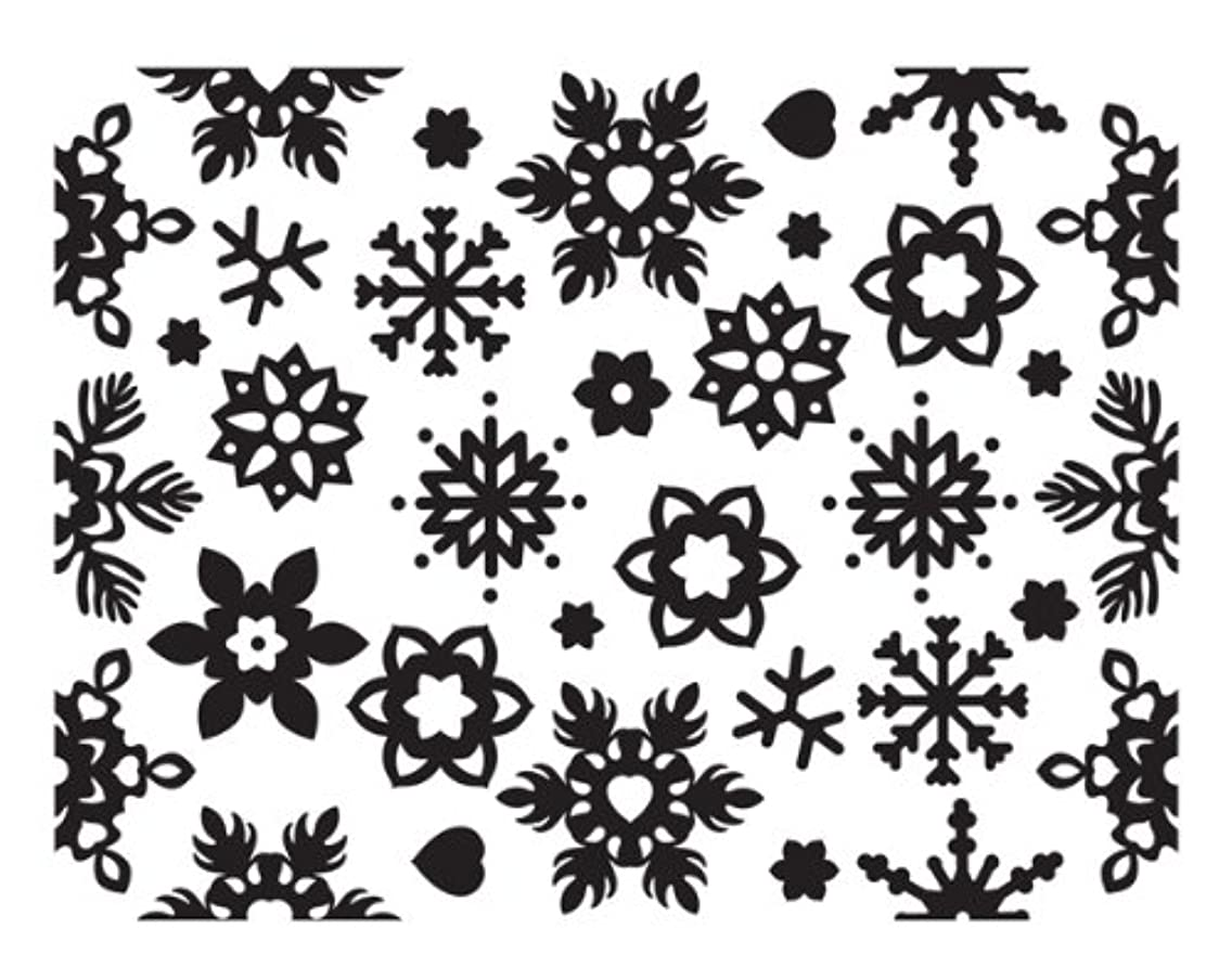 Ultimate Crafts Allura Collection Embossing Folder, Winter Chill