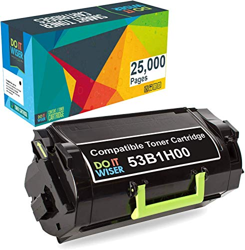 Do it Wiser Compatible Toner Cartridge Replacement for Lexmark 53B1H00 High Yield Lexmark MS817, MS817n, MS817dn, MS818dn - 25,000 Pages