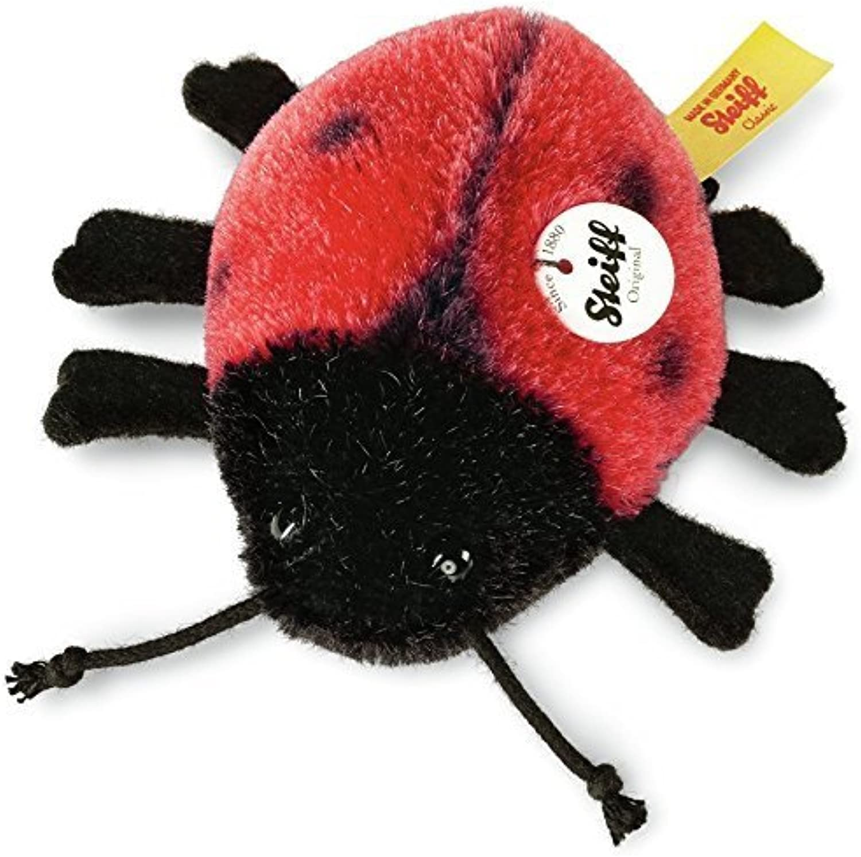 Steiff Ladybird Plush Toy (Red Black) by Steiff