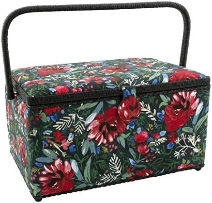 Dritz Sewing Basket Green Red Floral product image