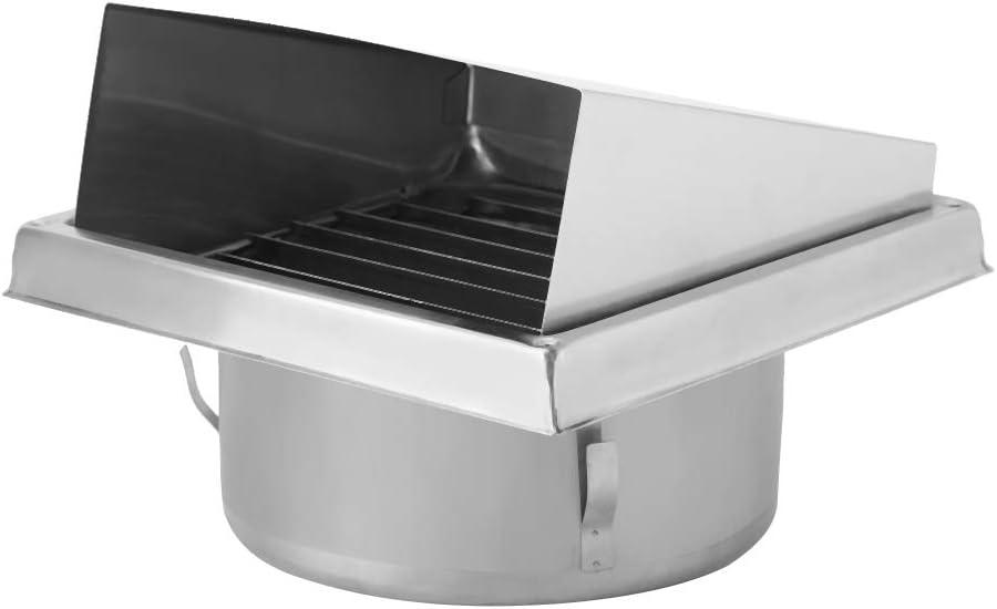 Gancon Air Vent - Salida de Aire de Pared de Acero Inoxidable para el hogar, Extractor de baño Extractor Externo Cuadrado, 150 mm