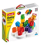 Quercetti Geokid Daisy Maxi - 21 Piece Beginning Stacking & Sorting Pegboard for Ages 1 and Up (Made in Italy) (Toy)