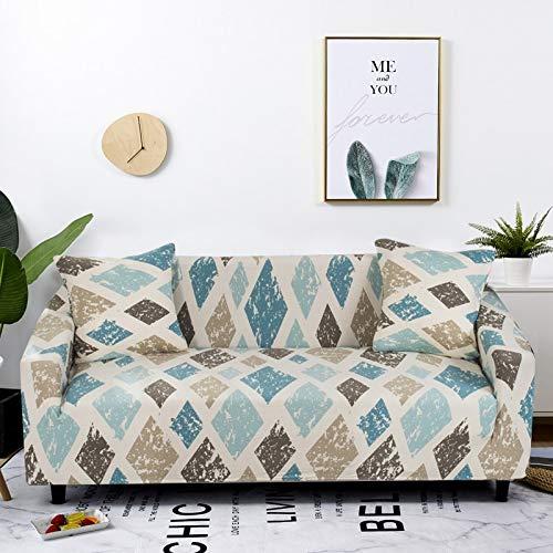 WXQY Stretch Plaid Sofabezug Wohnzimmer rutschfeste Sofabezug Kombination All-Inclusive L-förmige Ecksofabezug A2 1-Sitzer