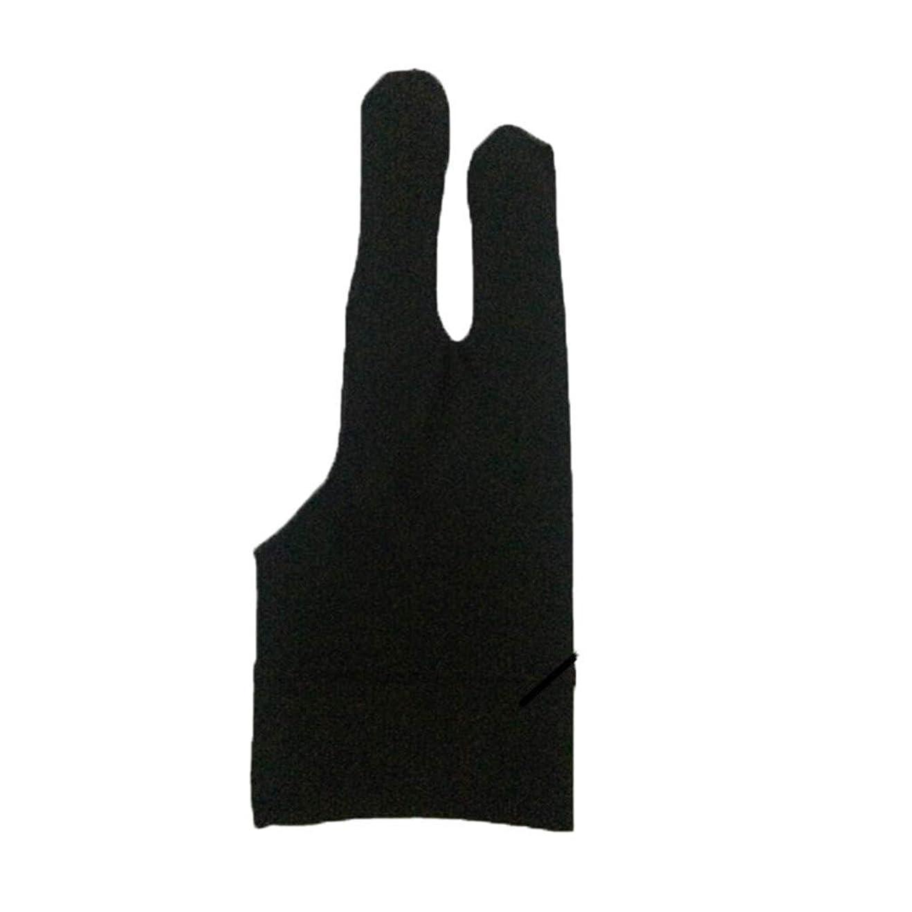 上に意気消沈した滑るLazayyii 芸術家 2本 汚れ防止手袋 デッサン及びペン グラフィックタブレット パッド (A)