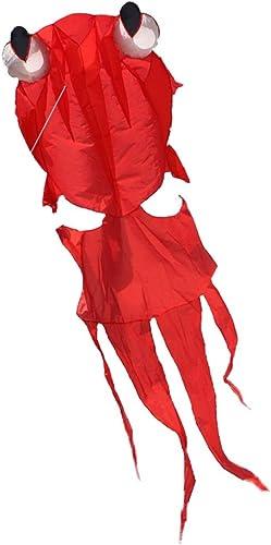 Tier Drachen, Größe Weiße Goldfischform Kein Skelett Kite Au brise Leicht Zu Fliegen Strand Kite, 150  350cm   (Farbe   Rot)
