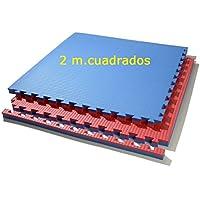 Grupo Contact Lote 2 MTS. Suelo Tatami, Colores (Rojo/Azul) de 2 cmts.