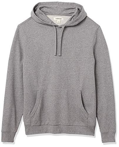 Goodthreads Lightweight French Terry Pullover Hoodie Sweatshirt Fashion, Gris Jaspeado, M