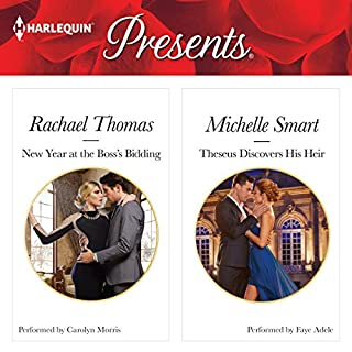 New Year at the Boss' Bidding & Theseus Discovers His Heir                   By:                                                                                                                                 Rachael Thomas,                                                                                        Michelle Smart                               Narrated by:                                                                                                                                 Carolyn Morris,                                                                                        Faye Adele                      Length: 10 hrs and 32 mins     4 ratings     Overall 4.8