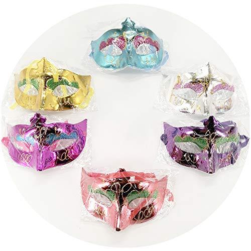 Aulinx 6 piezas Máscara de carnaval Máscara de mujer Má