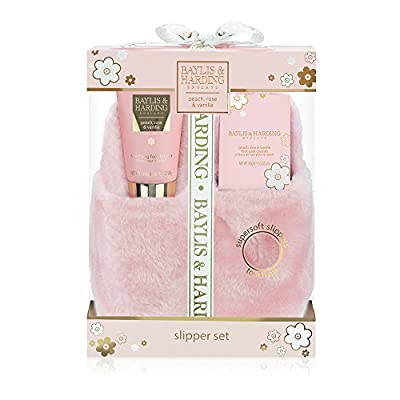 Baylis & Harding Peach/Rose/Vanilla Slipper Gift Set