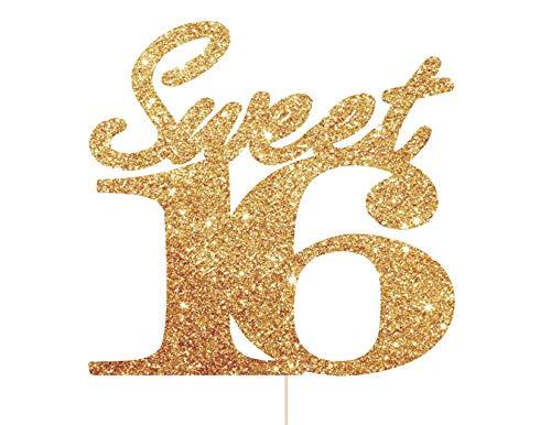 Sweet 16 Taart Topper, Zestien Taart Topper, 16 Verjaardag Decoraties, 16e Verjaardag Décor, 16e Verjaardag Taart Topper, Zoete 16 Topper