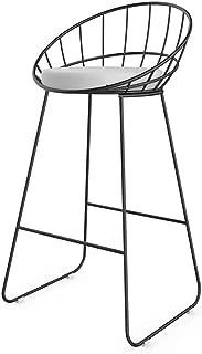 NUBAO Tabouret Bar  Tabourets Hauts Restaurant  Chaise Longue Fer  Contre-Chaise  Coussin Eponge Creux 45 65 75cm Haut Convient pour Barre 80-110cm Couleurs