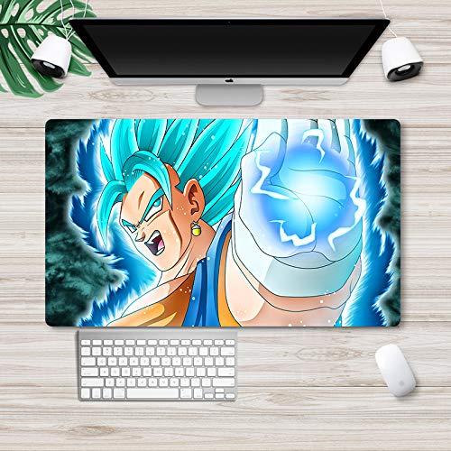 Dragon Ball Super Mauspad Japanisches Anime-Spiel Mauspad Groß Schreibtischunterlage Tastatur Computer Schreibtisch Pad Büro Mauspad Son Goku Vegeta IV Trunks Bulma Mauspad Desktop Pad Tischmatten 175