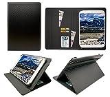 Sweet Tech Trekstor SurfTab Xiron 10.1 Zoll Tablet Kohlen Schwarz Universal Wallet Schutzhülle Folio (10-11 Zoll)