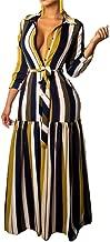 Best striped button down maxi dress Reviews