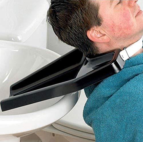 Lavabos de Peluquería Ligero Colgando Enjuague Salón Posición para Sentarse Silla de Ruedas Lavadero El Plastico,Negro,33x44cm