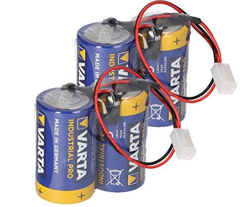 Ersatzbatterie kompatibel ABUS Security-Center für 2WAY-Funksirene 2x2er Set FU2986 FU8220 FU8222 FUSG50000