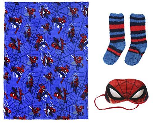 BWR Spiderman 2200003382 Geschenkset mit Fleece, Socken und Maske, Größe M