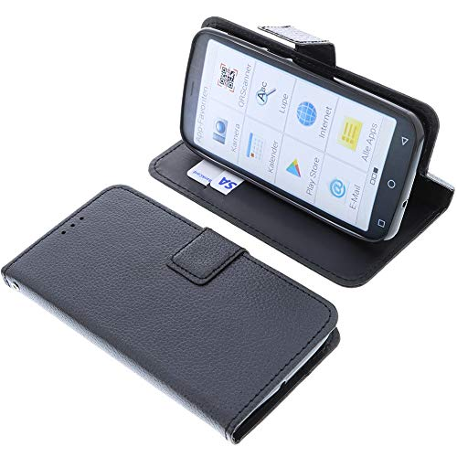 foto-kontor Tasche für Emporia Smart 4 Book Style schwarz Schutz Hülle Buch