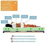 Schlummerparadies® hochwertige Matratze 7-Zonen HR-Kaltschaummatratze – Made in Germany – ca. 19cm Gesamthöhe, RG40, geprüfter Kern + Bezug – Optima Klassik (90x200cm, H2) - 3