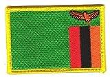 Flaggen Aufnäher Patch Sambia Fahne Flagge NEU