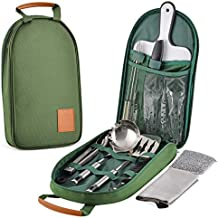 Onyx Outfitters Camping Kitchen & Utensil Kit - 27+ Piece Stainless Steel Outdoor Camping and Grilling Utensil Kit for Hiking, Travel, Picnics, RV's, BBQ's, and Outdoor Living