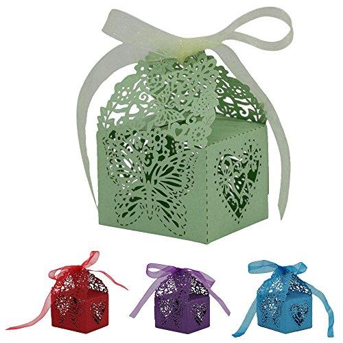 ryadia (TM) DIY Mini Boîtes cadeau avec rubans percées pour Hollow Out mariage cadeaux de Noël Candy Boîte Desigual
