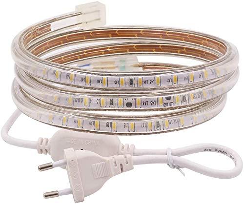 Tira de luz LED, Konesky SMD 5050 Fairy Strips TV Luz de Fondo 120 Lámpara de gabinete de cinta impermeable Iluminación decorativa para Laptop Bar de escritorio Hotel de techo (2 metros)