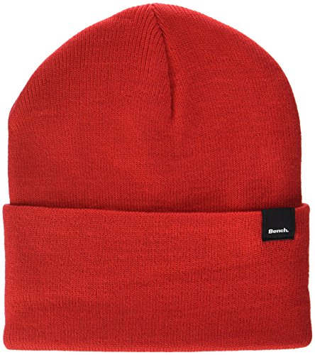 Bench Unisex CORE Turn UP Beanie Strickmütze, Rot (Red Rd012), One Size