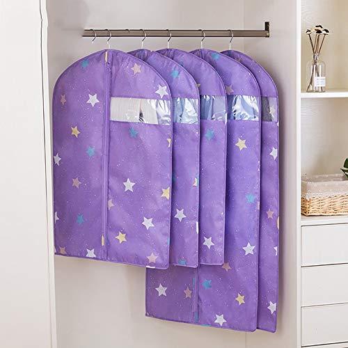 QFFL Sac de compression sous vide Housse anti-poussière, vêtements suspendus transparents garde-robe des ménages Sac de protection (Couleur : F)