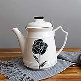 Juego de tazas de café de porcelana de hueso, taza de té vintage, hervidor de agua, taza de café y té y juego de platillo