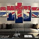 KOPASD 5 Piezas Pintura De Pared Sala De Estar De Arte Gran Bretaña HD Print De Decoración para El Hogar para (Enmarcado Tamaño 150x80cm)