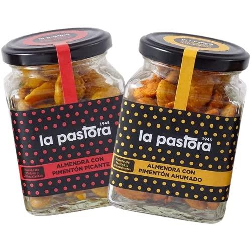 Pack de Almendras al Pimentón - 2 x 150 Gramos - con Pimentón Ahumado y Pimentón Picante 100% Puro - Almendras...
